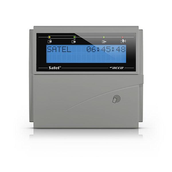 1 Manipulator LCD z czytnikiem kart zbliż niebieskie podświetlenie szara obudowa ACCO KLCDR BG