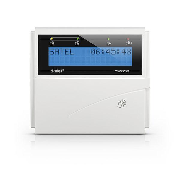 1 Manipulator LCD z czytnikiem kart zbliż niebieskie podświetlenie szara obudowa ACCO KLCDR BW