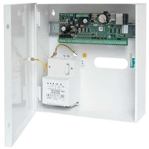 MC16 PAC 1 KIT Zestaw kontroli dostępu na 1 przejście metalowa obudowa ME14 40VA sieciowy kontroler dostępu MC16 PAC 1