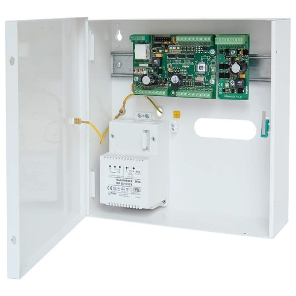 MCX402 2 KIT Zestaw ekspandera dostępu na 2 przejścia metalowa obudowa ME14 60VA ekspander we wy MCX402DR BRD moduł zasilania PS1A LCK
