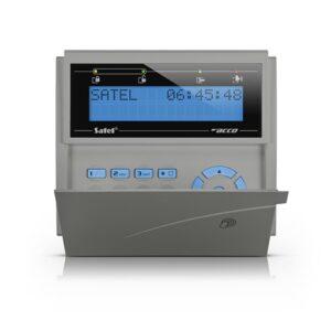 Manipulator LCD z czytnikiem kart zbliż niebieskie podświetlenie szara obudowa ACCO KLCDR BG