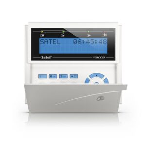 Manipulator LCD z czytnikiem kart zbliż niebieskie podświetlenie szara obudowa ACCO KLCDR BW