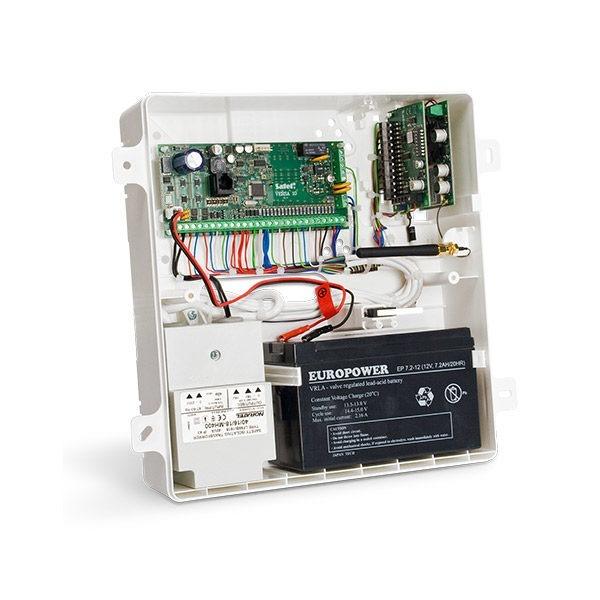 Obudowa uniwersalna z polistyrenu tworzywo z uniepalniaczem wtynkowa z miejscem na transformator i akumulator 7Ah OPU 4 PW