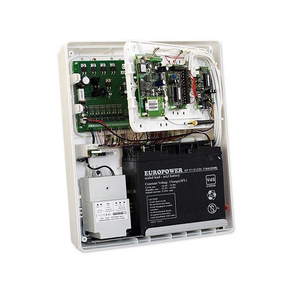 Obudowa uniwersalna z polistyrenu tworzywo z uniepalniaczem z miejscem na transformator i akumulator 17Ah OPU 3 P