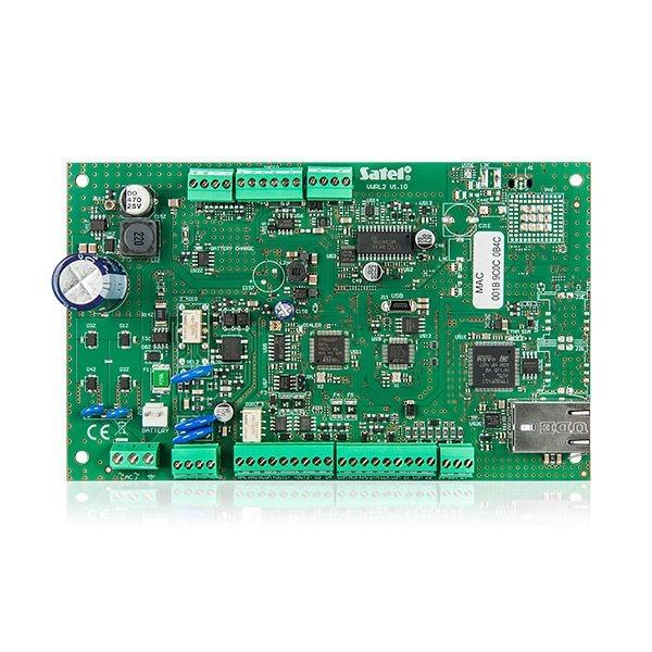 Płyta główna centrali alarmowej z modułem komunikacyjnym ETH PSTN i sygnalizatorem wewnętrznym VERSA IP