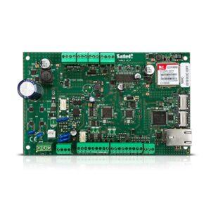 Płyta główna centrali alarmowej z wielokanałowym modułem komunikacyjnym i sygnalizatorem wewnętrznym VERSA PLUS