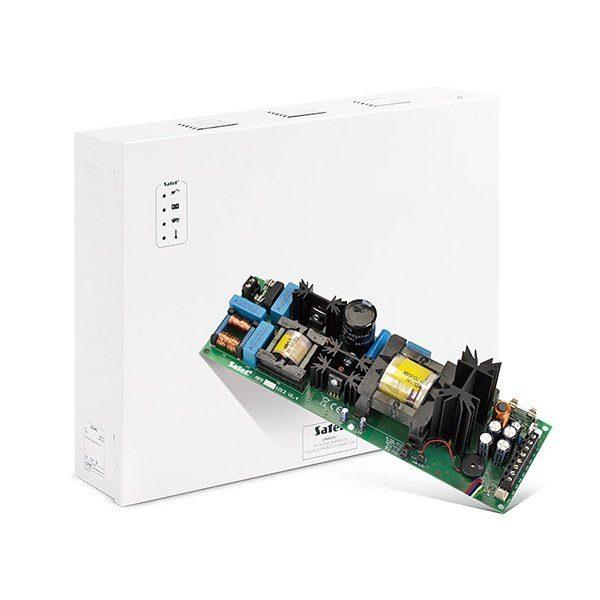 Zasilacz buforowy impulsowy 12V DC 10A obudowa z miejscem na 2 akumulatory 12V 17Ah w połączeniu równoległym APS 1012