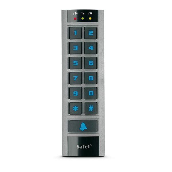 Zewnętrzna klawiatura z czytnikiem kart zbliżeniowych szara obudowa niebieskie podświetlenie klawiszy ACCO SCR BG