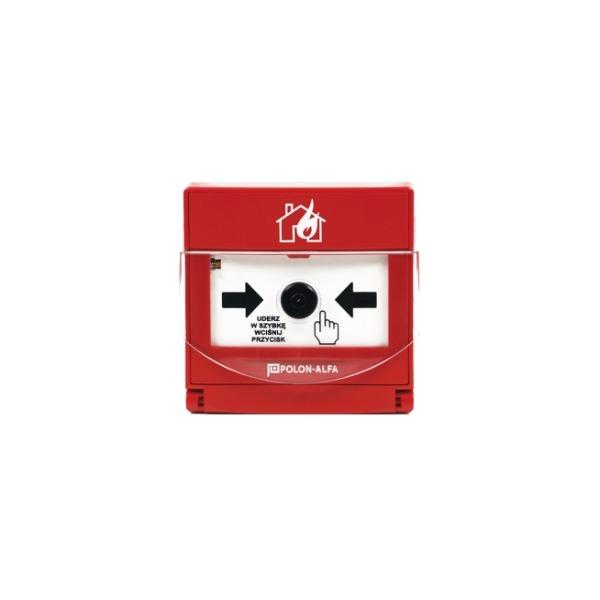 Ręczny ostrzegacz pożarowy (wtynkowy) Polon-Alfa ROP-63H