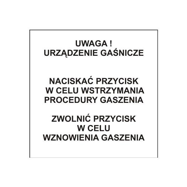 Instrukcja ostrzegawcza Polon-Alfa IW-1