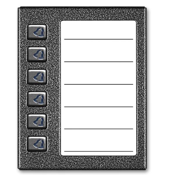 Średnia, podświetlana lista opisowa z 6 przyciskami ACO CDN-6NP GR