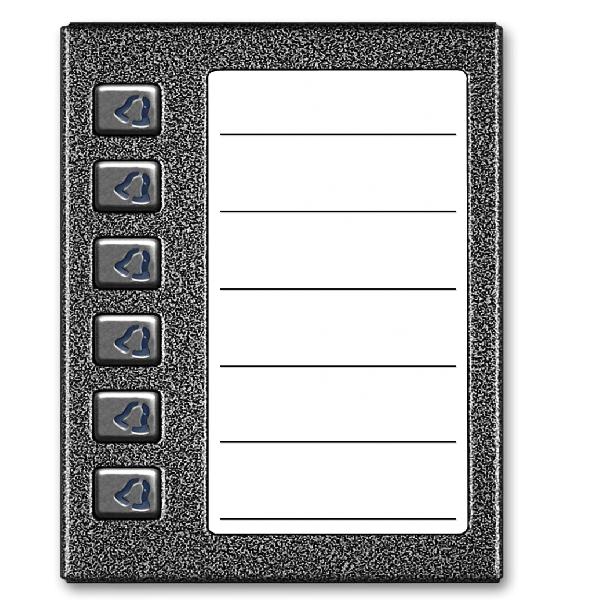 Średnia, podświetlana lista opisowa z 6 przyciskami ACO CDN-6NP ST