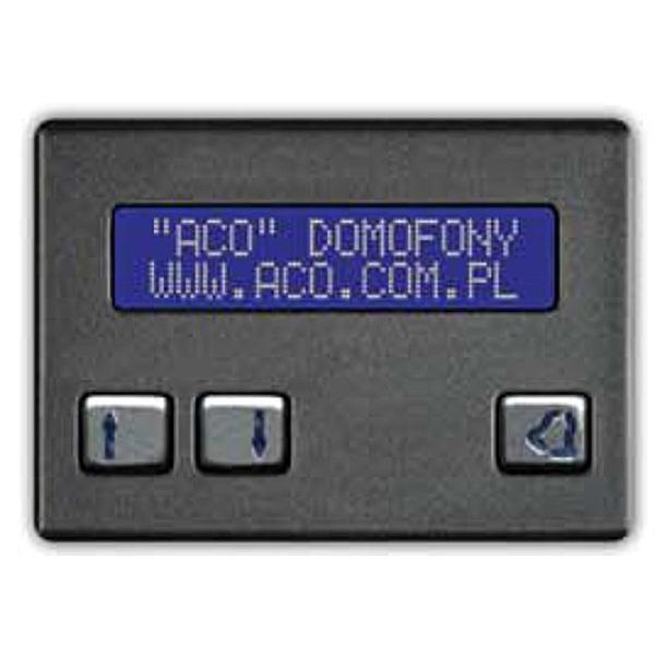 Elektroniczna, alfabetyczna lista lokatorów ACO CDN-230E BR