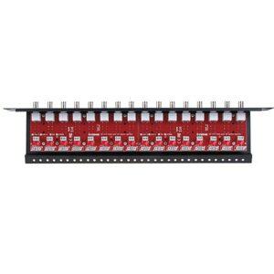 16-kanałowy, separowany konwerter UTP do AHD, HD-CVI, HD-TVI z zabezpieczeniem przeciwprzepięciowym i dystrybucją zasilania EWIMAR LHST-16R-EXT-FPS