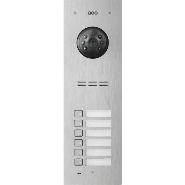 Wideodomofon cyfrowy z czytnikiem breloków i 6 przyciskami ACO COMO-PRO-V6
