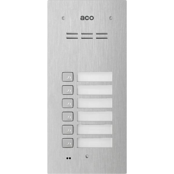 Cyfrowy z czytnikiem breloków i 6 przyciskami ACO FAM-P-6NPACC