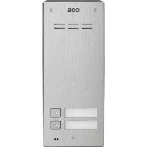 Domofon cyfrowy z czytnikiem breloków i 2 przyciskami ACO FAM-PRO-A-2NPACC NT