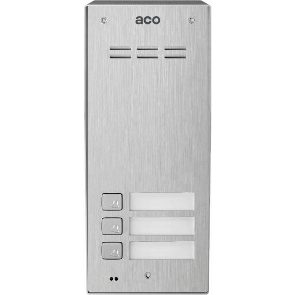 Domofon cyfrowy z czytnikiem breloków i 3 przyciskami ACO COMO-PRO-A3 NT