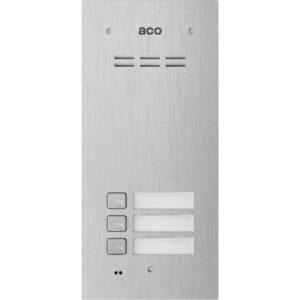 Domofon cyfrowy z czytnikiem breloków i 3 przyciskami ACO FAM-PRO-A-3NPACC
