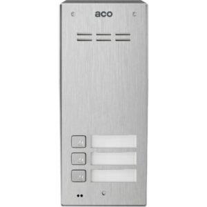 Domofon cyfrowy z czytnikiem breloków i 3 przyciskami ACO FAM-PRO-A-3NPACC NT