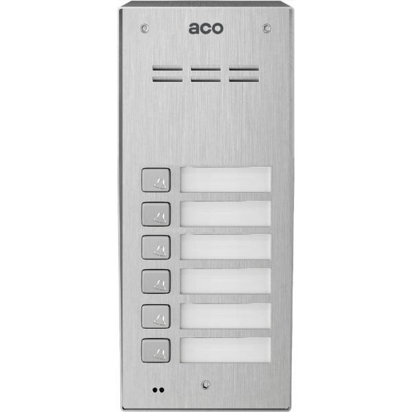 Domofon cyfrowy z czytnikiem breloków i 6 przyciskami ACO COMO-PRO-A6 NT