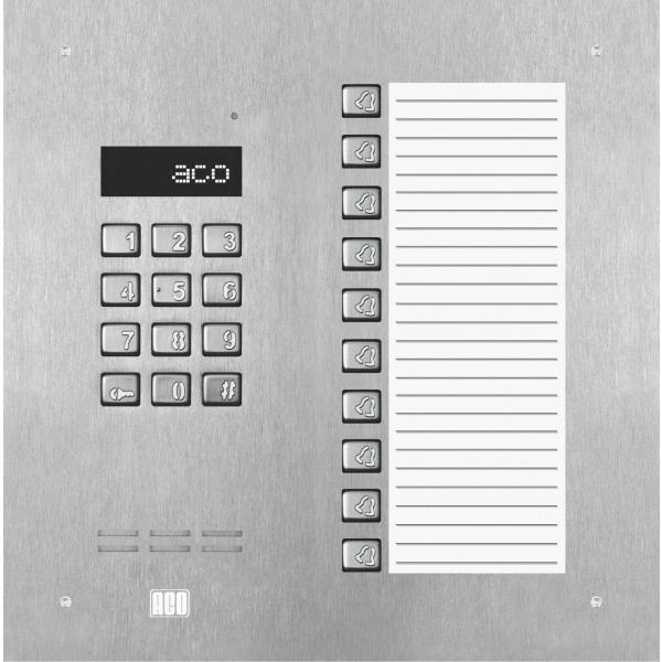 Domofon cyfrowy z zamkiem szyfrowym, 10 przyciskami oraz dużą listą opisową ACO INSPIRO 18