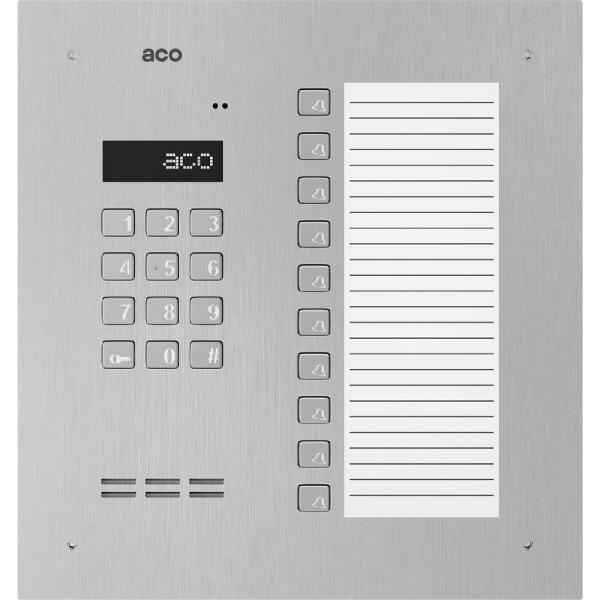 Domofon cyfrowy z zamkiem szyfrowym, 10 przyciskami oraz dużą listą opisową ACO INSPIRO 18+