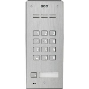 Domofon cyfrowy z zamkiem szyfrowym, czytnikiem breloków oraz 1 przyciskiem ACO FAM-PRO-A-1NPZSACC NT