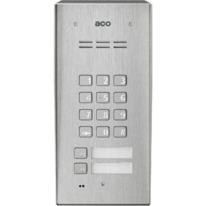 Domofon cyfrowy z zamkiem szyfrowym, czytnikiem breloków oraz 2 przyciskami ACO FAM-P-2NPZSACC NT