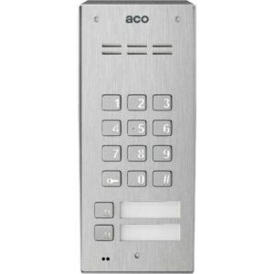 Domofon cyfrowy z zamkiem szyfrowym, czytnikiem breloków oraz 2 przyciskami ACO FAM-PRO-A-2NPZSACC NT