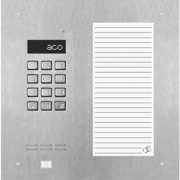 Domofon cyfrowy z zamkiem szyfrowym, dużą listą opisową oraz czytnikiem zbliżeniowym ACO INSPIRO 17ACCS