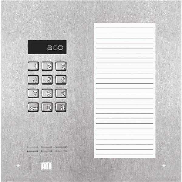 Domofon cyfrowy z zamkiem szyfrowym i dużą listą opisową ACO INSPIRO 17