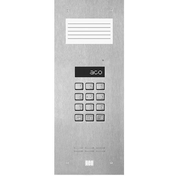 Domofon cyfrowy z zamkiem szyfrowym i małą listą opisową ACO INSPIRO 9