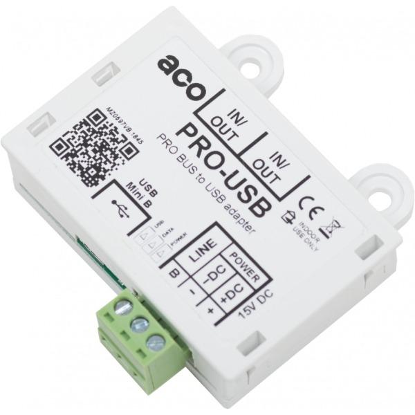 Interfejs komputerowy do zarządzania urządzeniami PRO G3 ACO PRO-USB