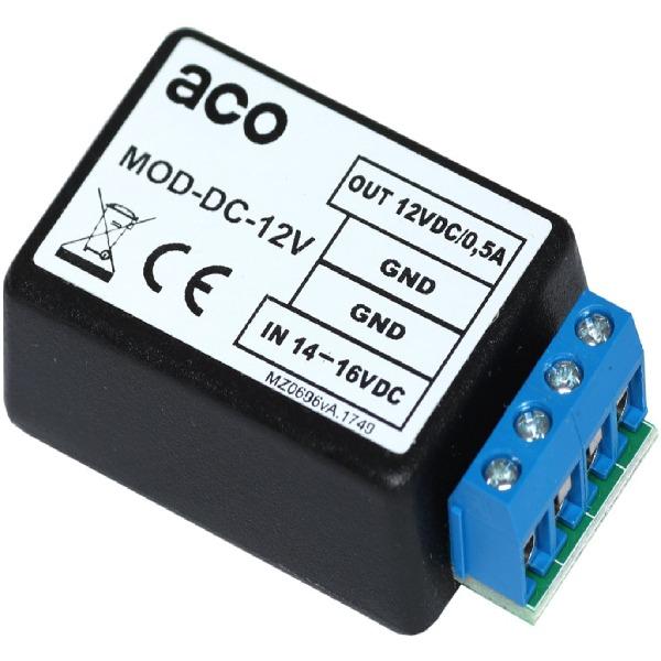 Konwerter napięcia z 14-16VDC na 12VDC / 0,5A (dla elektrozaczepów rewersyjnych) ACO MOD-DC-12V