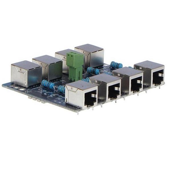 Moduł LAN z zabezpieczeniem przeciwprzepięciowym EXT z funkcją InPoE EWIMAR PTF-4-EXT_InPoE