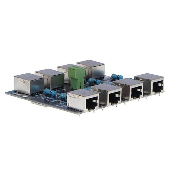 Moduł LAN z zabezpieczeniem przeciwprzepięciowym PRO z funkcją InPoE EWIMAR PTF-4-PRO_InPoE