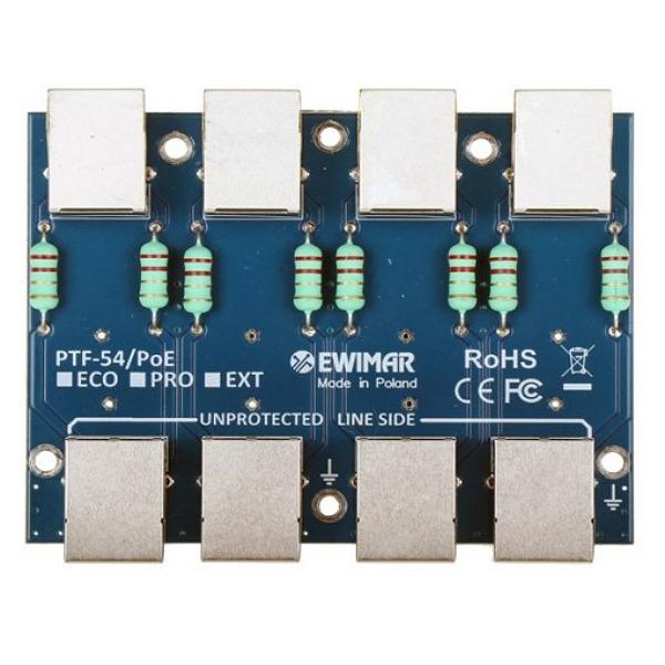 Moduł ochronnika przeciwprzepięciowego LAN serii PRO EWIMAR PTF-54-PRO_PoE