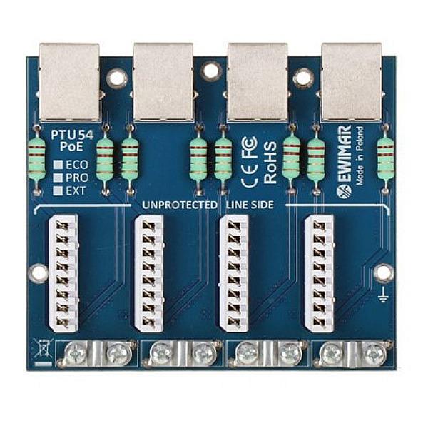 Moduł zabezpieczenia przeciwprzepięciowego LAN serii EXT EWIMAR PTU-54-EXT_PoE
