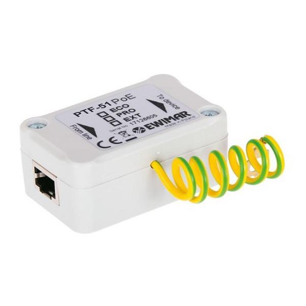 Ochronnik przeciwprzepięciowy do sieci LAN i kamer IP EWIMAR PTF-51-EXT/PoE