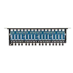 Patch panel LAN / IP-CCTV z ogranicznikiem przepięć EWIMAR PTU-516R-PRO/PoE