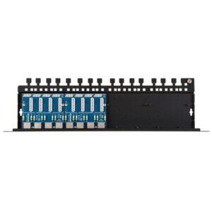 Patch panel LAN _ IP -CCTV z zabezpieczeniem przeciwprzepięciowym EWIMAR PTU-58R-ECO_PoE