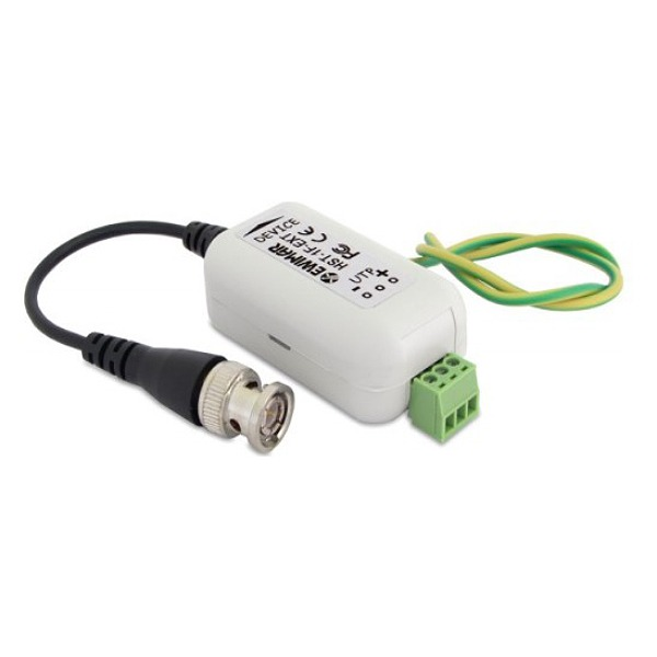 Separator galwaniczny z konwerterem UTP i zabezpieczeniem do AHD, HD-CVI EWIMAR HST-1F-EXT