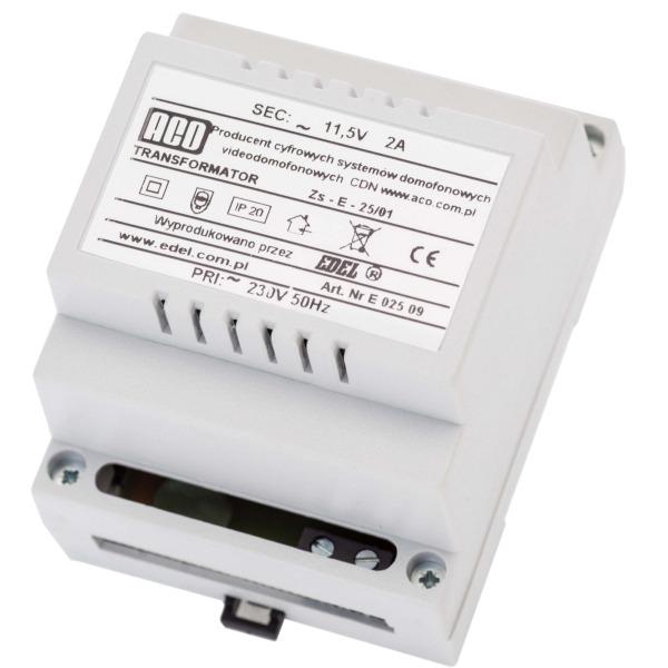 Transformator sieciowy ACO TR 11,5V 2A DIN
