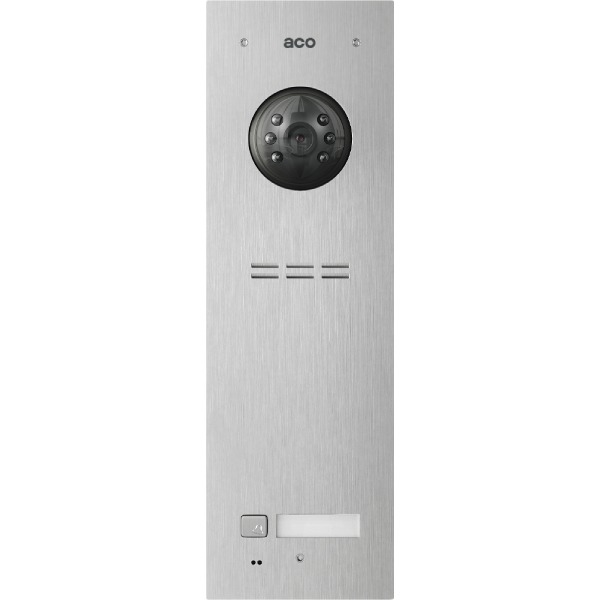 Wideodomofon cyfrowy z czytnikiem breloków i 1 przyciskiem ACO FAM-PV-1NPACC