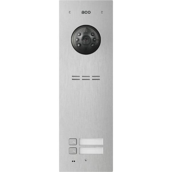 Wideodomofon cyfrowy z czytnikiem breloków i 2 przyciskami ACO FAM-PV-2NPACC