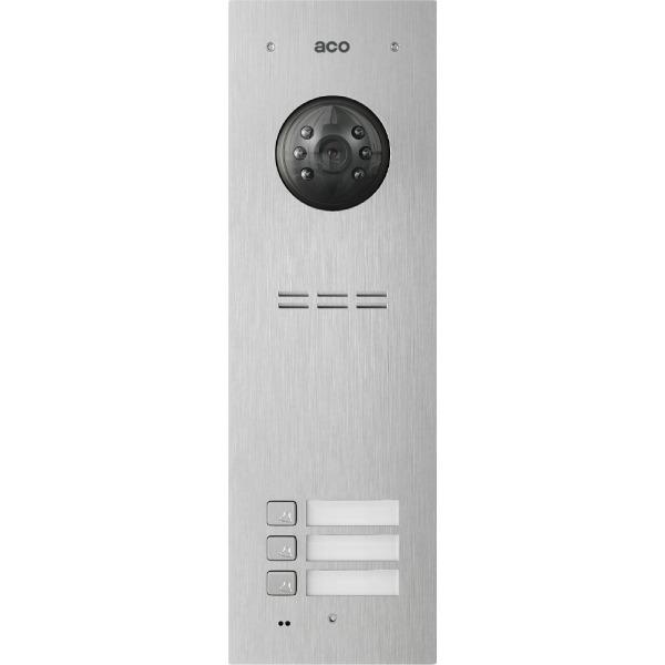 Wideodomofon cyfrowy z czytnikiem breloków i 3 przyciskami ACO COMO-PRO-V3