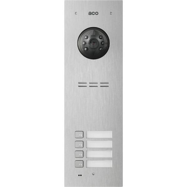 Wideodomofon cyfrowy z czytnikiem breloków i 4 przyciskami ACO FAM-PV-4NPACC