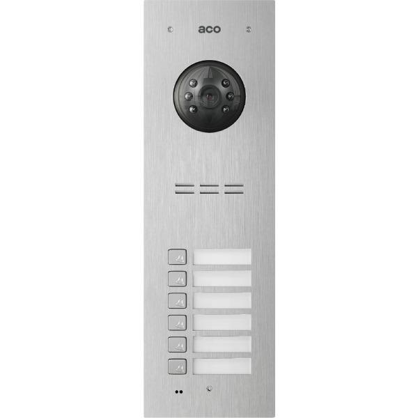 Wideodomofon cyfrowy z czytnikiem breloków i 6 przyciskami ACO FAM-PV-6NPACC