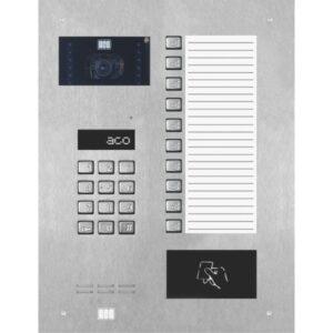 Wideodomofon cyfrowy z zamkiem szyfrowym, czytnikiem zbliżeniowym, 10 przyciskami oraz dużą listą opisową ACO INSPIRO 900